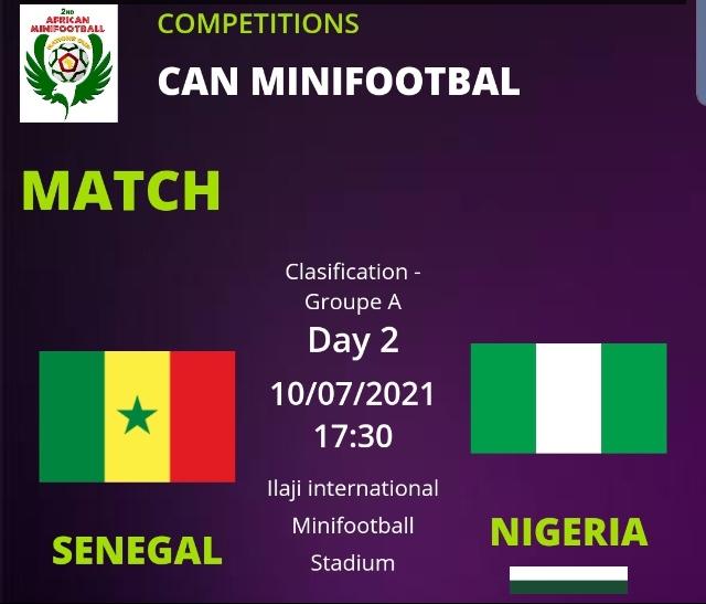 CAN minifoot 2021: Le Sénégal joue son 2ème match à 16h30 GMT contre le pays hôte, Nigéria.
