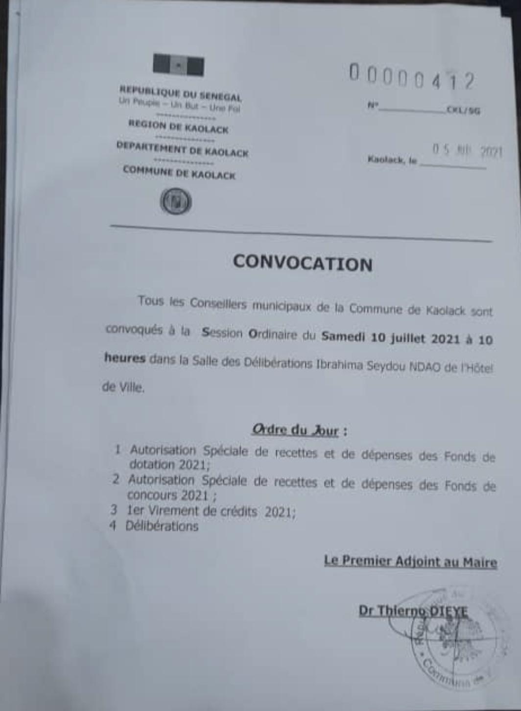 Commune de Kaolack : Le Conseil municipal bloque une délibération de Mariama Sarr.