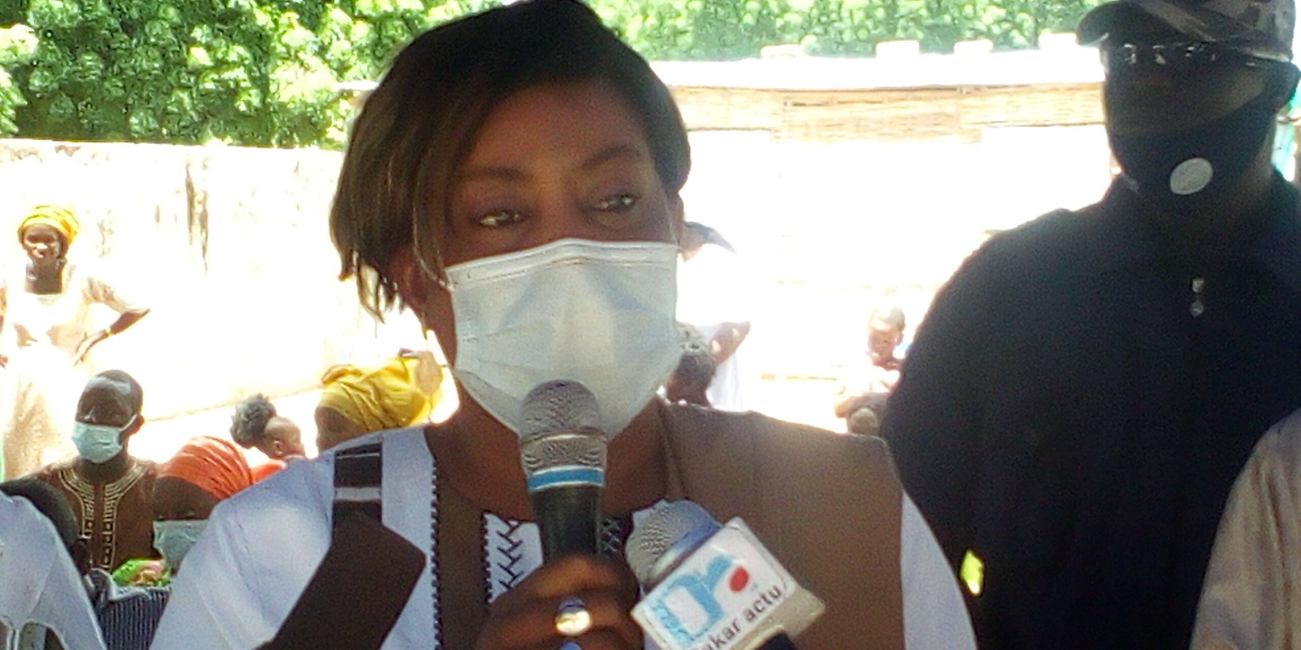 Maïmouna Cissokho (DG Agence de la case des tout-petits) à Kolda : « J'ai pris l'option de faire le tour des quatorze régions… Il est prévu dans le cadre du PIPADHS la construction de quatre cases des tout-petits à.… »