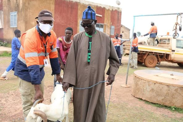 Kédougou / Don de moutons de Tabaski : Endeavour Mining ex Teranga perpétue la tradition (Images)