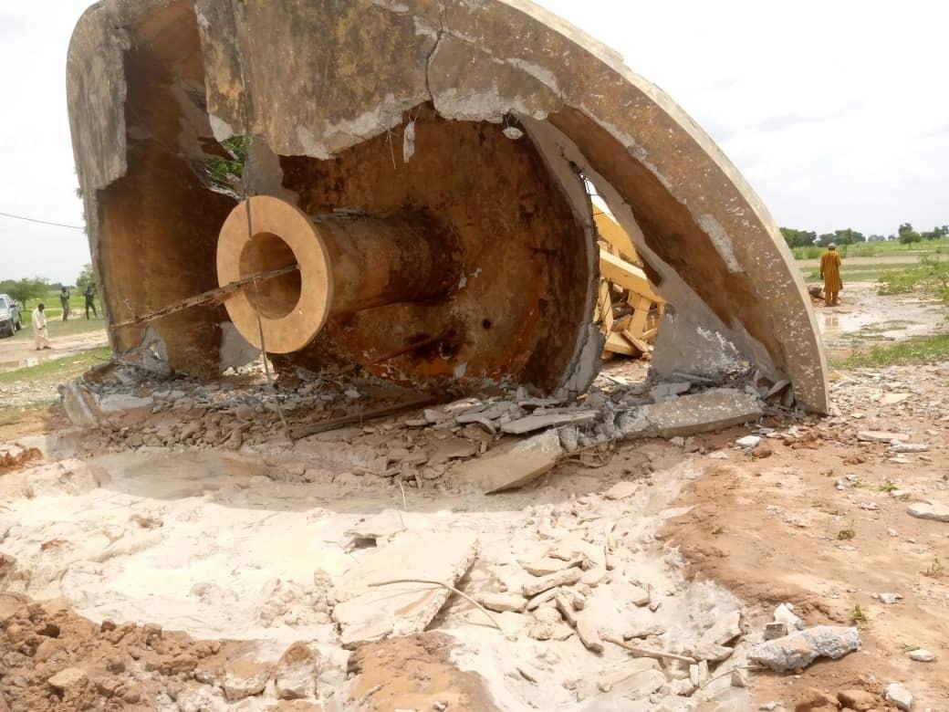 Kaffrine : Le château d'eau  de Fass Goulokoum s'est effondré.