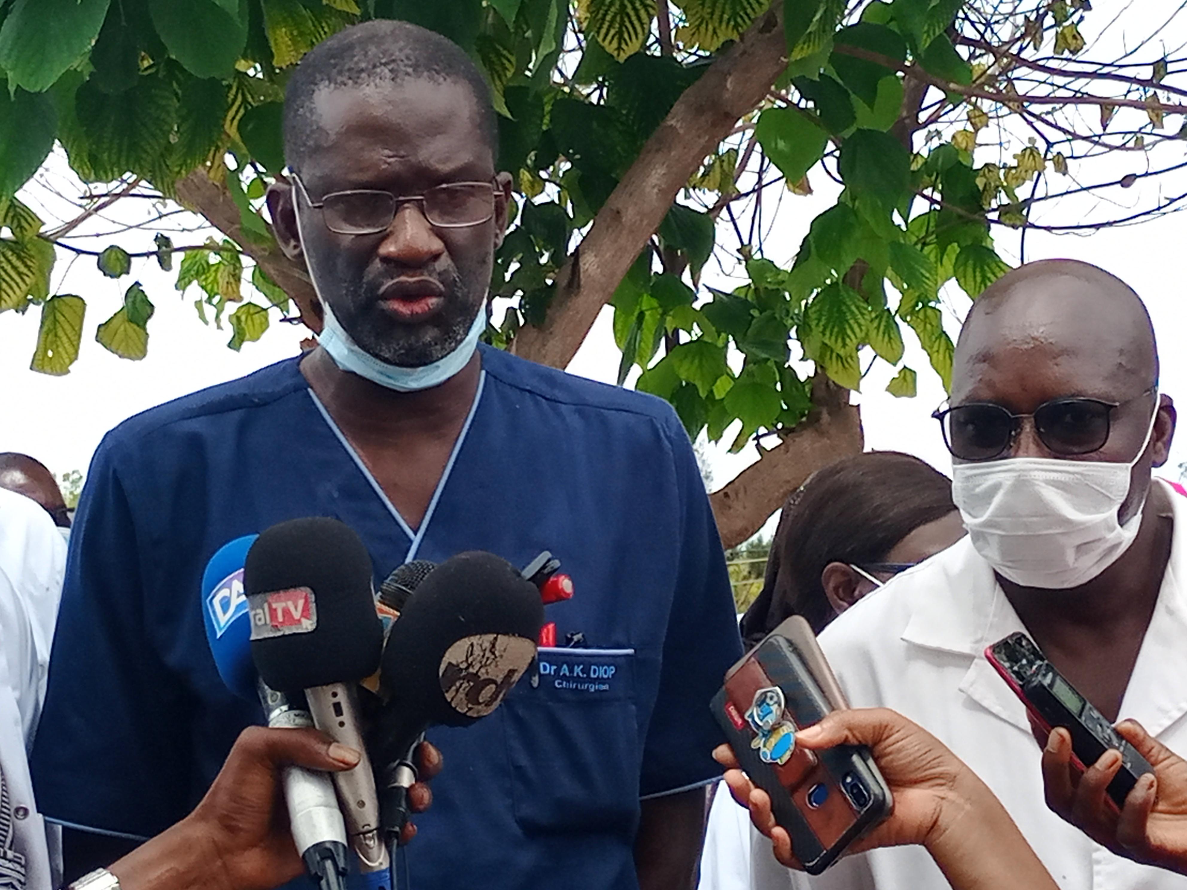 Mbour : Sit-in des agents de l'hôpital Grand Mbour pour exiger la résiliation immédiate et définitive de la convention Polymed / Epsi.