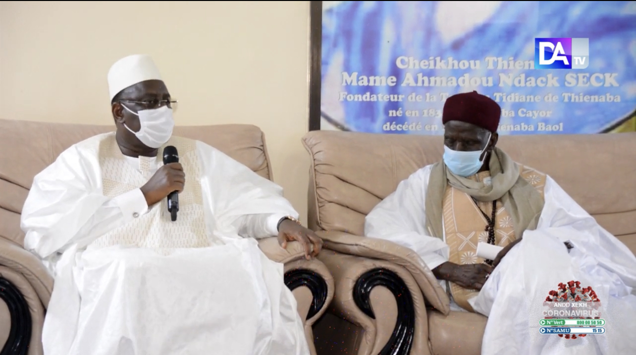 Condoléances : Le président Macky Sall accompagné par Antoine Félix Diome et de Amadou Ba auprès de la famille Layène et celle de Thiénaba.