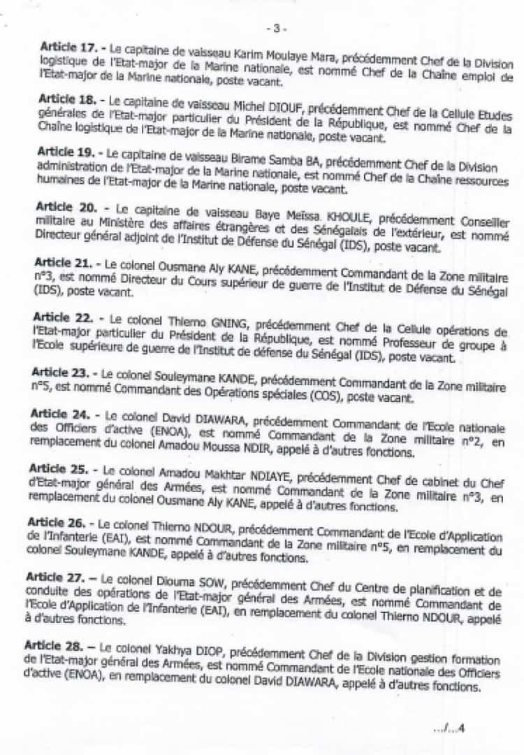 Vaste chamboulement dans l'Armée : le Colonel Kandé de la Zone 5 nommé commandant des forces spéciales