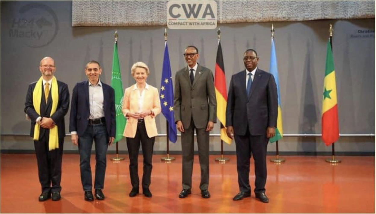 Berlin : Macky Sall s'accorde avec Kagamé sur la production de vaccins africains et échanges avec l'association des entreprises allemandes et la directrice générale du FMI.