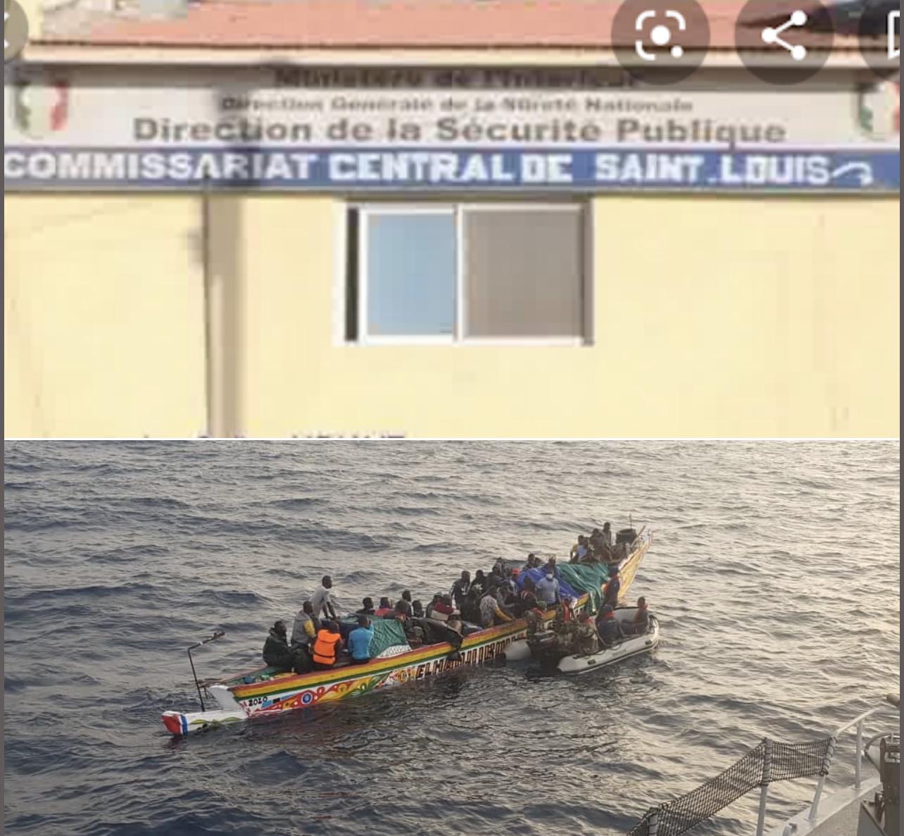Émigration Irrégulière / Le gros coup de filet du commissariat central de Saint-Louis : «Deux convoyeurs et 14 candidats arrêtés dans différents quartiers de la ville»