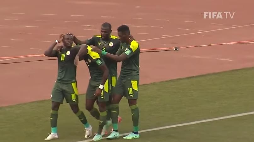Éliminatoires Mondial 2022 : 1-1 entre le Congo et le Sénégal (Mi-temps).