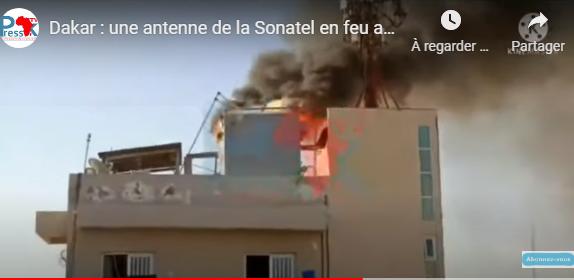 Parcelles Assainies : une antenne de la Sonatel prend feu.