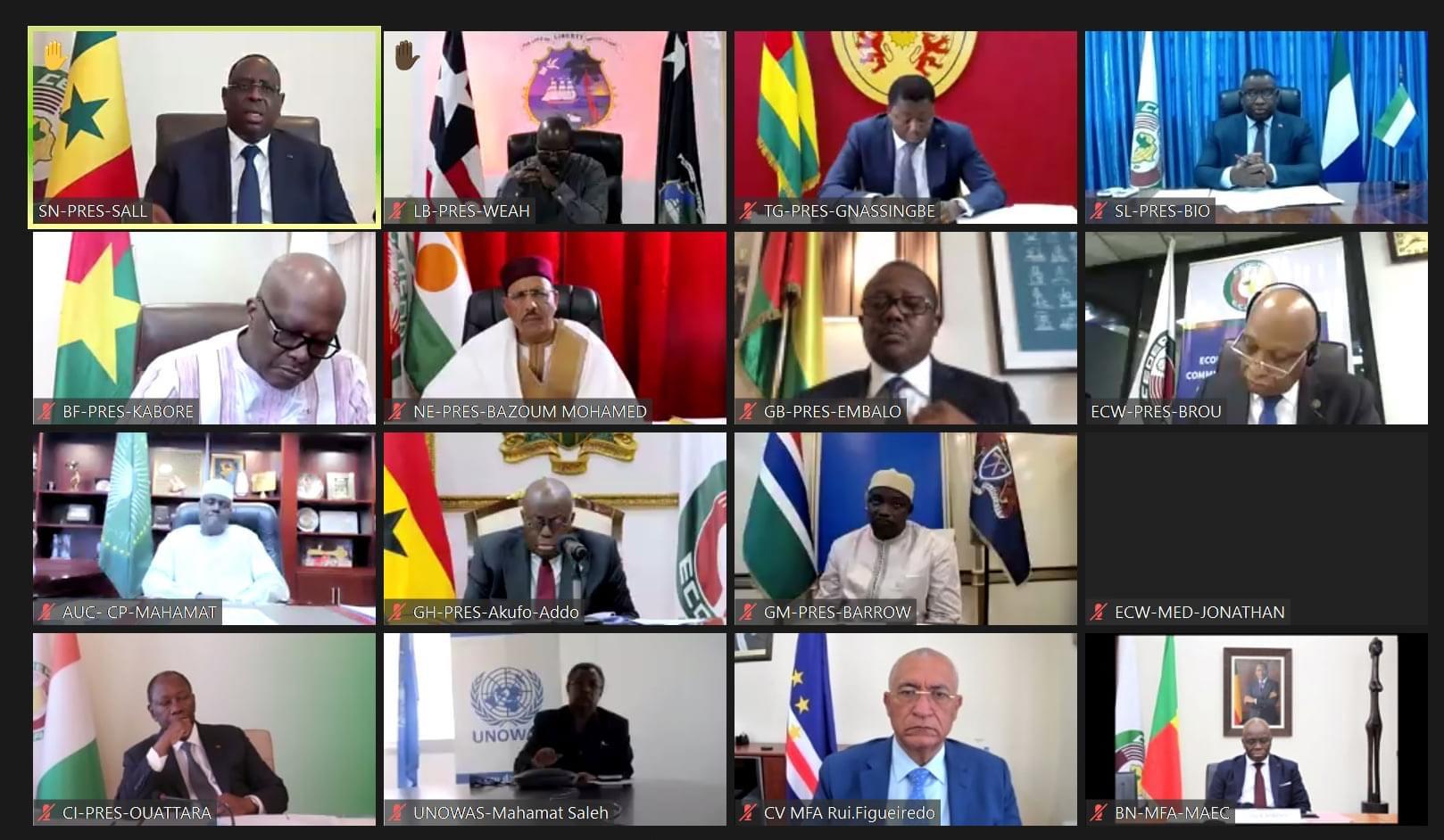 Réunion de crise sur la situation en Guinée : La CEDEAO suspend le pays de ses instances et invite à libérer le président Condé.