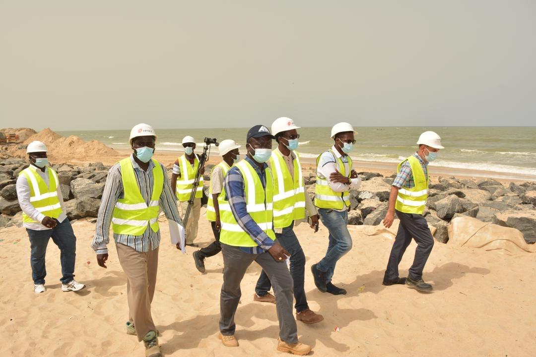 PPCS :  860m linéaires réalisés, le DG de l'ADM satisfait de l'avancement des travaux.