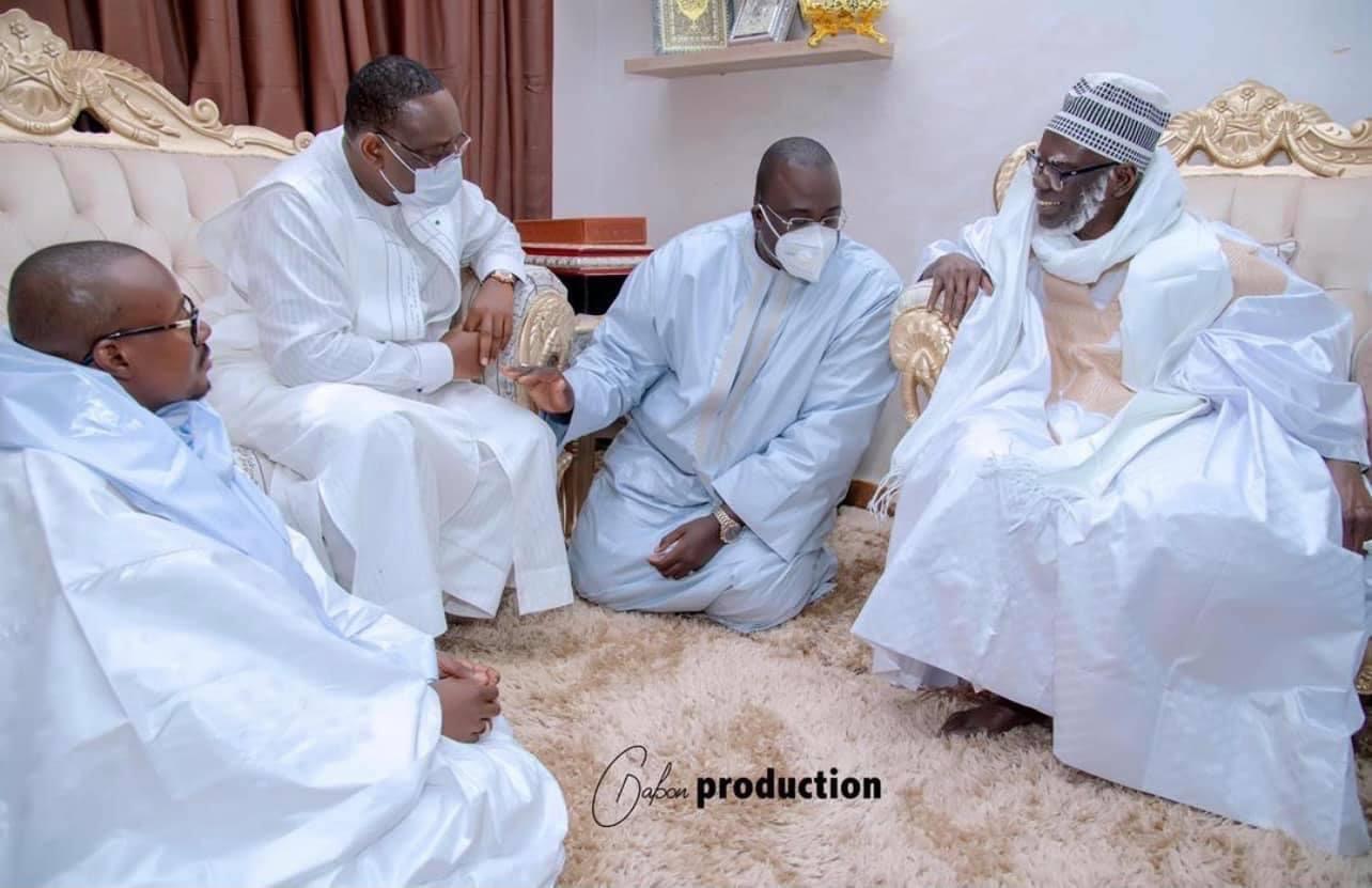 MACKY À TOUBA - Cheikh Abdou Lahad Mbacké Gaïndé Fatma se démarque de tout rassemblement par respect au ndigël du Khalife.