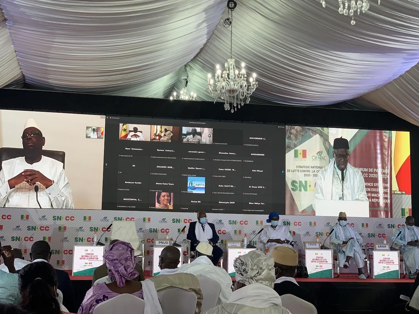 Lancement programme SNLCC :« la corruption est une pandémie dont ce programme peut apparaitre comme un vaccin» (Macky Sall)