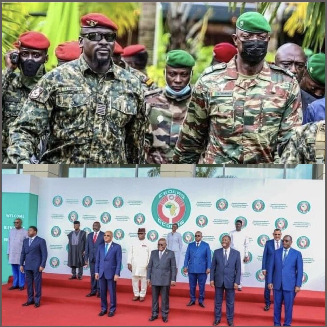 Guinée : Les gages et la position ferme de la junte vis-à-vis dela Cedeao et de la communauté internationale.