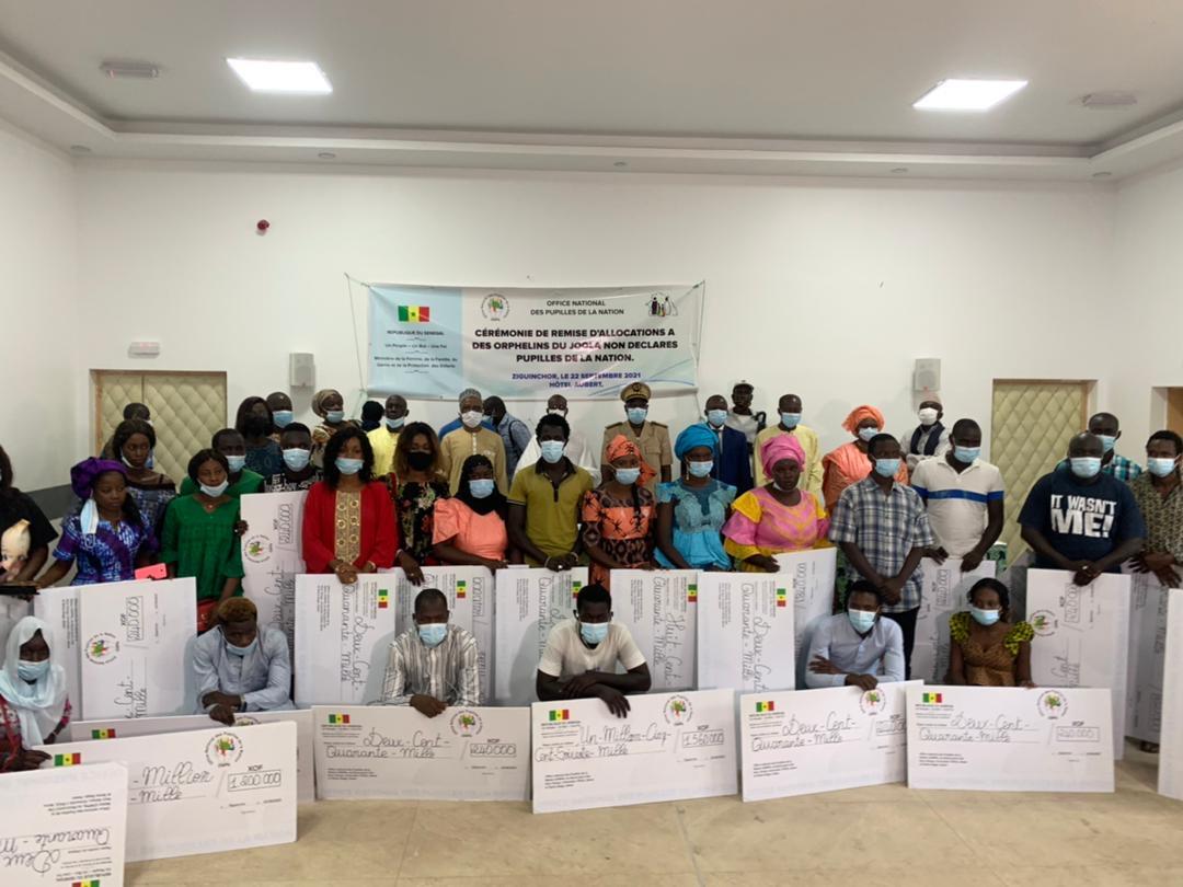 Ziguinchor / Orphelins du Joola non déclarés Pupilles de la Nation : 106 500 000 FCFA débloqués pour les 371 identifiés.
