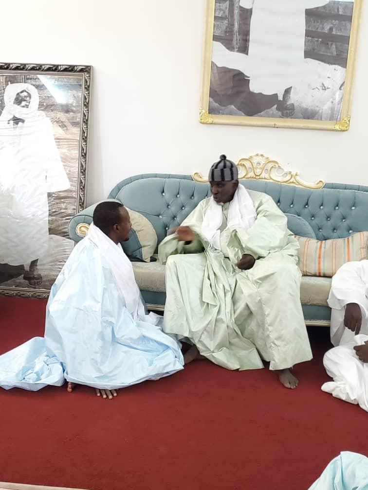 ( IMAGES) Serigne Moustapha Saliou passe deux tours d'horloge chez Serigne Bassirou Mbacké Abdou Khadre