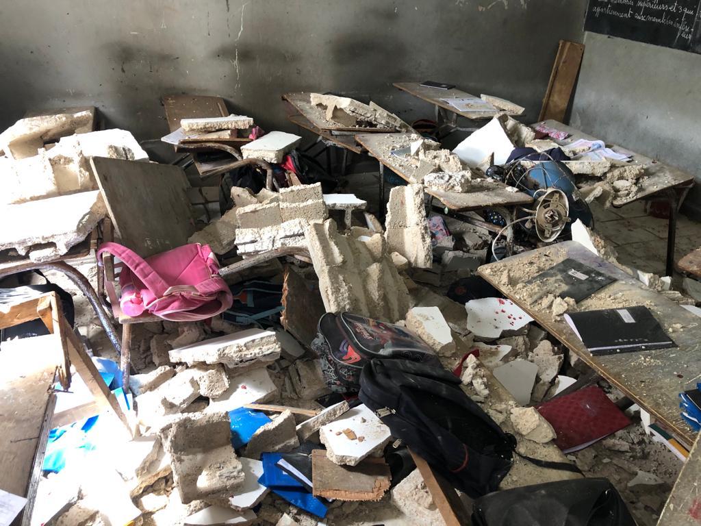 Guédiawaye : une dalle s'effondre et fait 14 blessés dont 3 graves, âgés entre 5 et 14 ans
