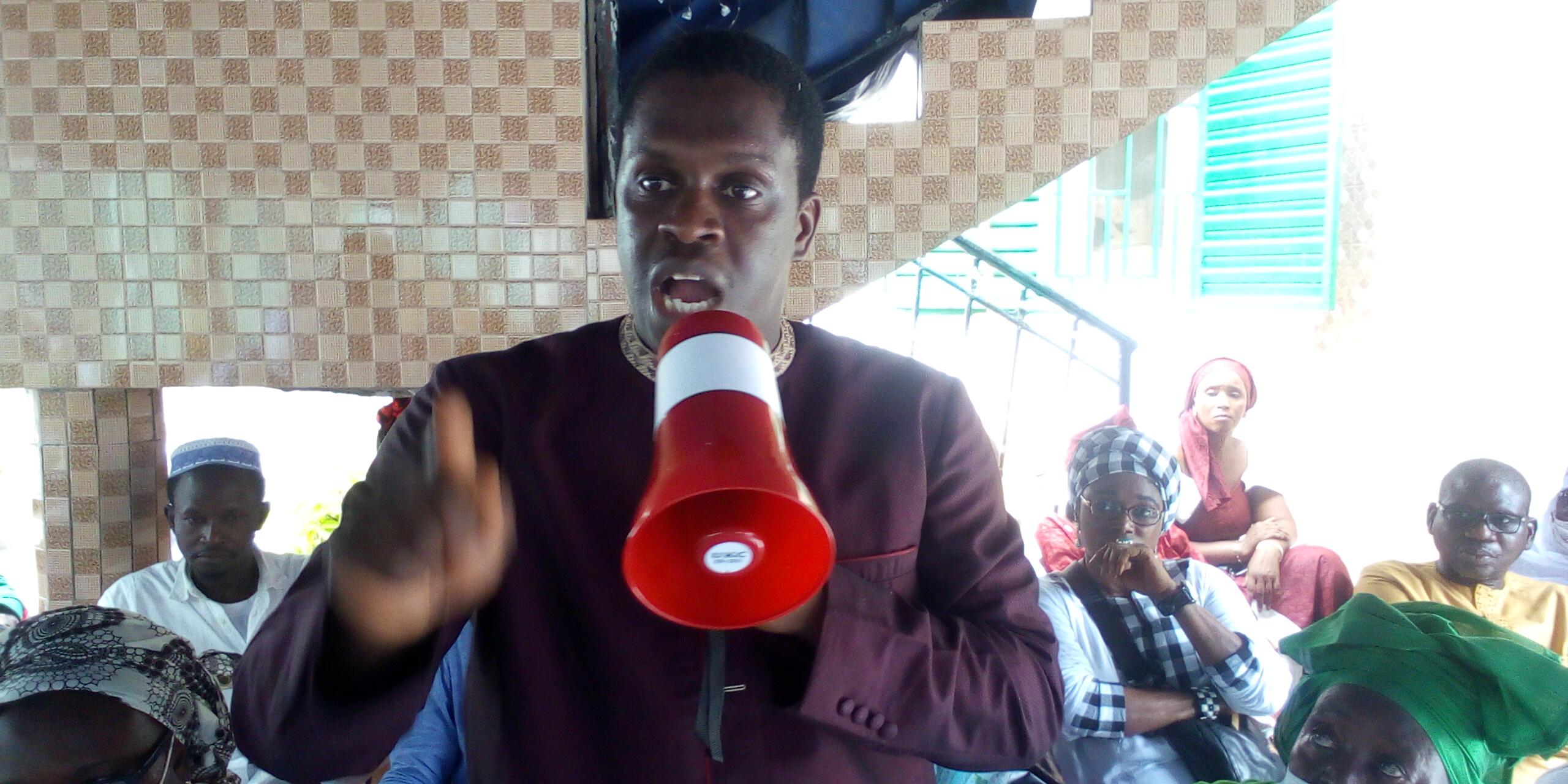Abdourahmane Baldé (président du mouvement Kolda debout) : « Avec notre détermination, désormais ce sera œil pour œil, dent pour dent… Kolda en a marre d'être traitée comme le dernier de la classe… »