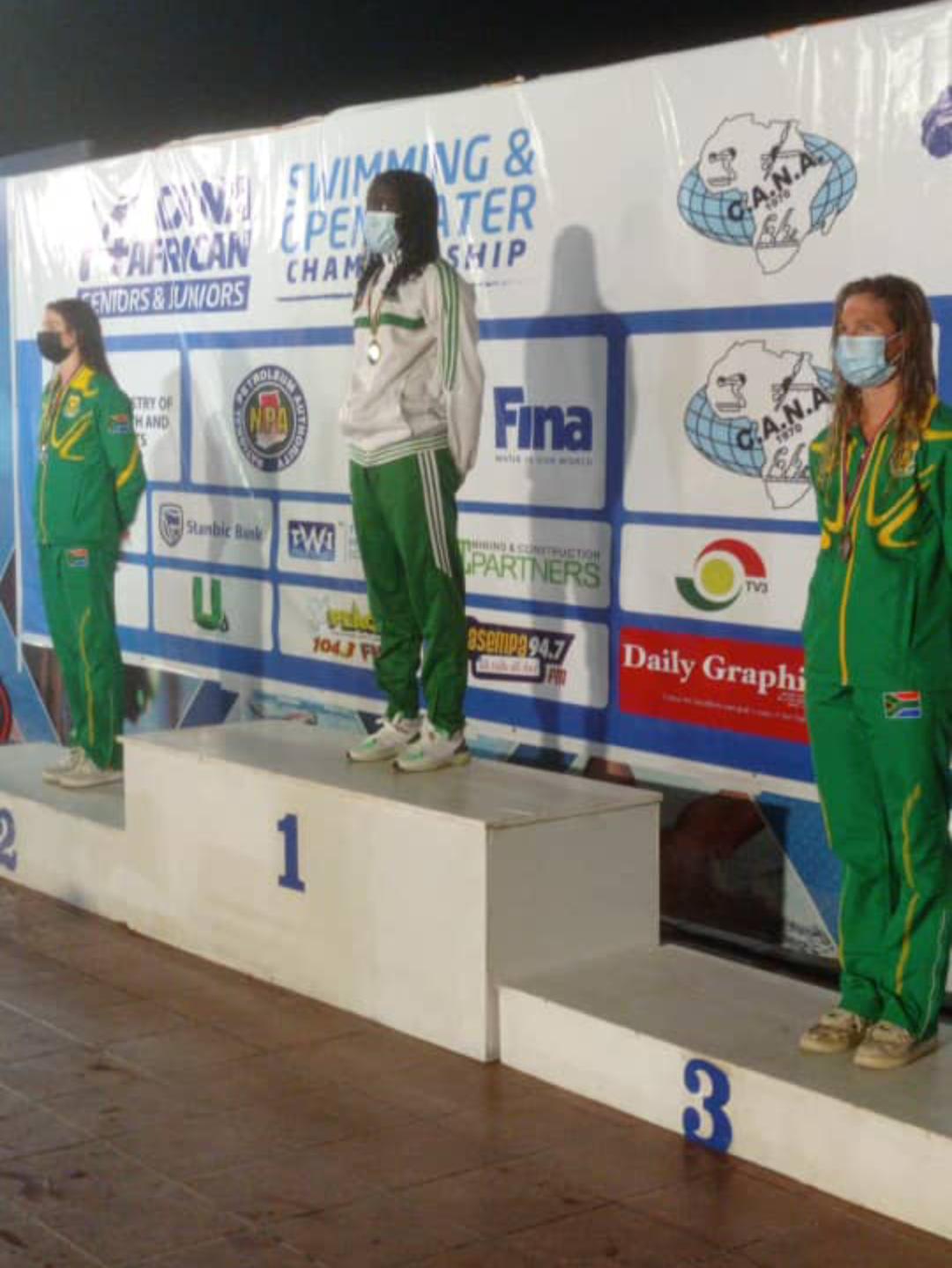 Championnats d'Afrique de Natation (Accra) : Oumy Diop reine du 100m papillon !