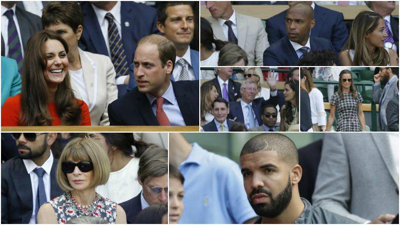 Thierry Henry, David Beckham, Pippa et Kate Middleton : du beau monde à Wimbledon!