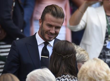 David Beckham : En tribune, il reçoit une ovation à Wimbledon