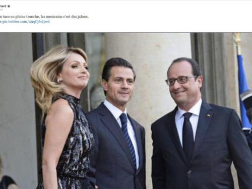 François Hollande, serial lover, dévore des yeux la femme du président mexicain