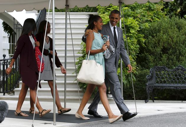 OBAMA : En virée avec ses filles