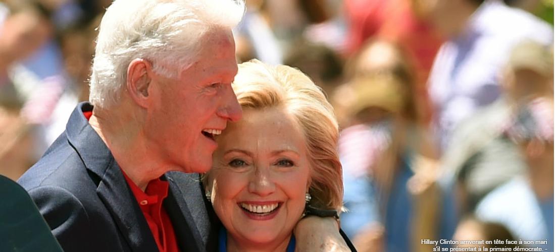 Présidentielle américaine: Hillary Clinton plus populaire que Bill