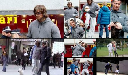 Déguisé, Ronaldo surprend les passants dans la rue (vidéo)