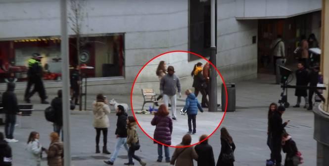 Quand Cristiano Ronaldo passe incognito en plein centre ville