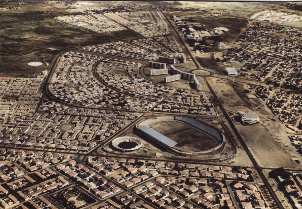 Senegalmetis : Sicap vue d'en haut en 1960