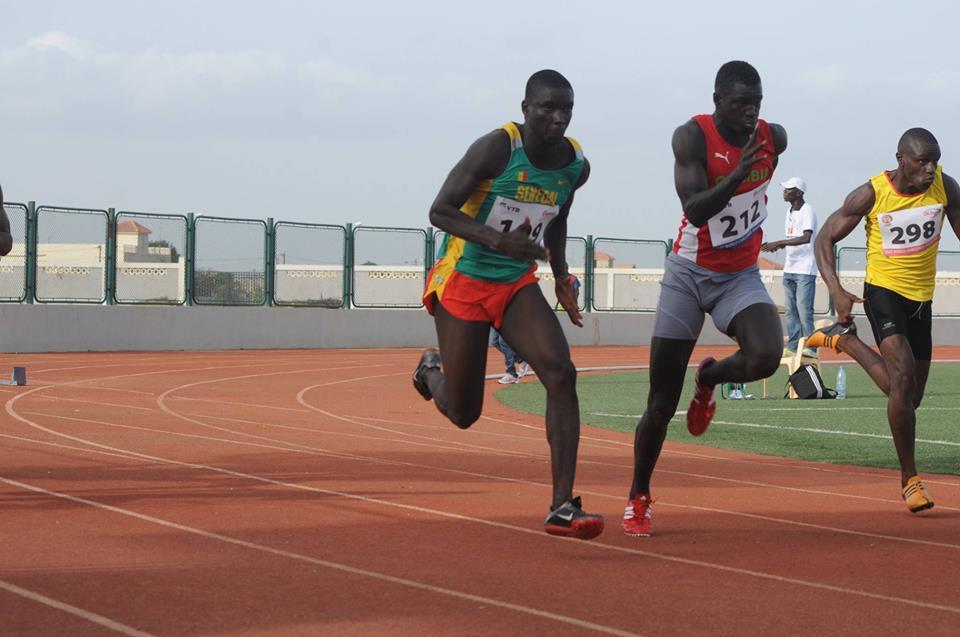 Championnat d'Afrique de l'ouest 2015, le sénégalais Moulaye Sonko remporte  la final du 100m avec un chrono de 10'58.