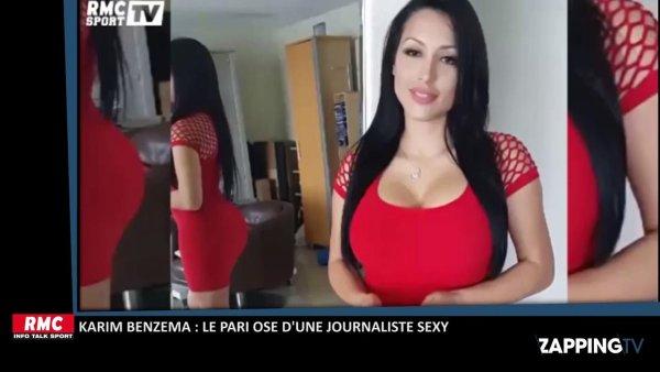 Karim Benzema : Le pari osé d'une journaliste très sexy