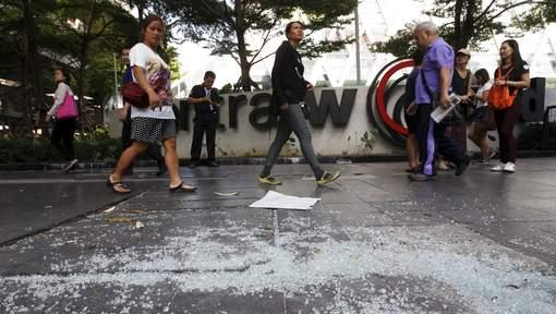 Le site où l'explosion de lundi, faisant une vingtaine de morts, a eu lieu. © reuters.
