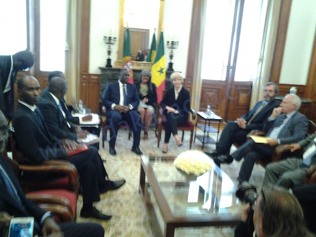 Visite officielle au Portugal : Le Président Macky Sall reçu à l'Assemblee nationale par la présidente du Parlement