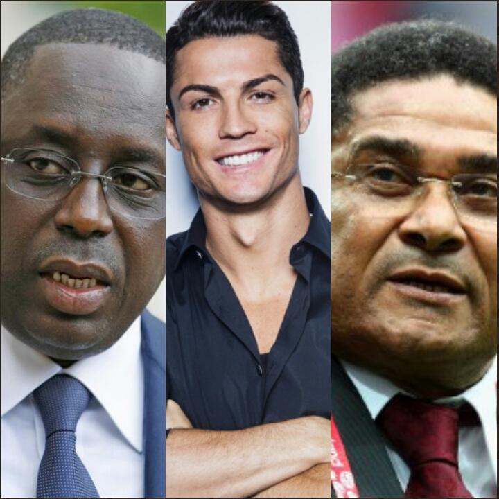 En visite au Portugal, Macky Sall « salue » Cristiano Ronaldo et Eusébio