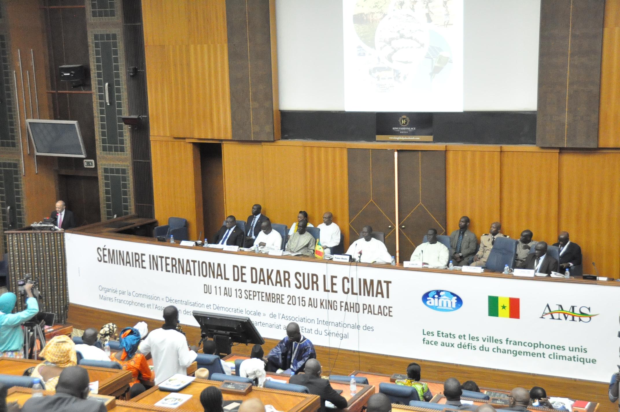 Colloque international sur les changements climatiques : Les 19 recommandations des maires francophones à l'Etat