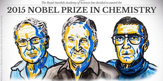 Le prix Nobel de chimie décerné à Tomas Lindahl, Paul Modrich et Aziz Sancar