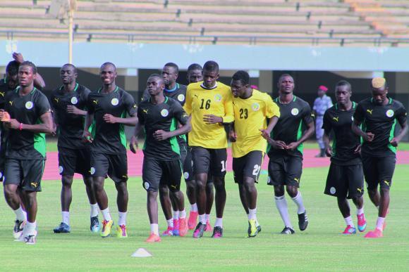 Football/Sénégal Algérie : Les Lions ont effectué leur dernier galop d'entrainement