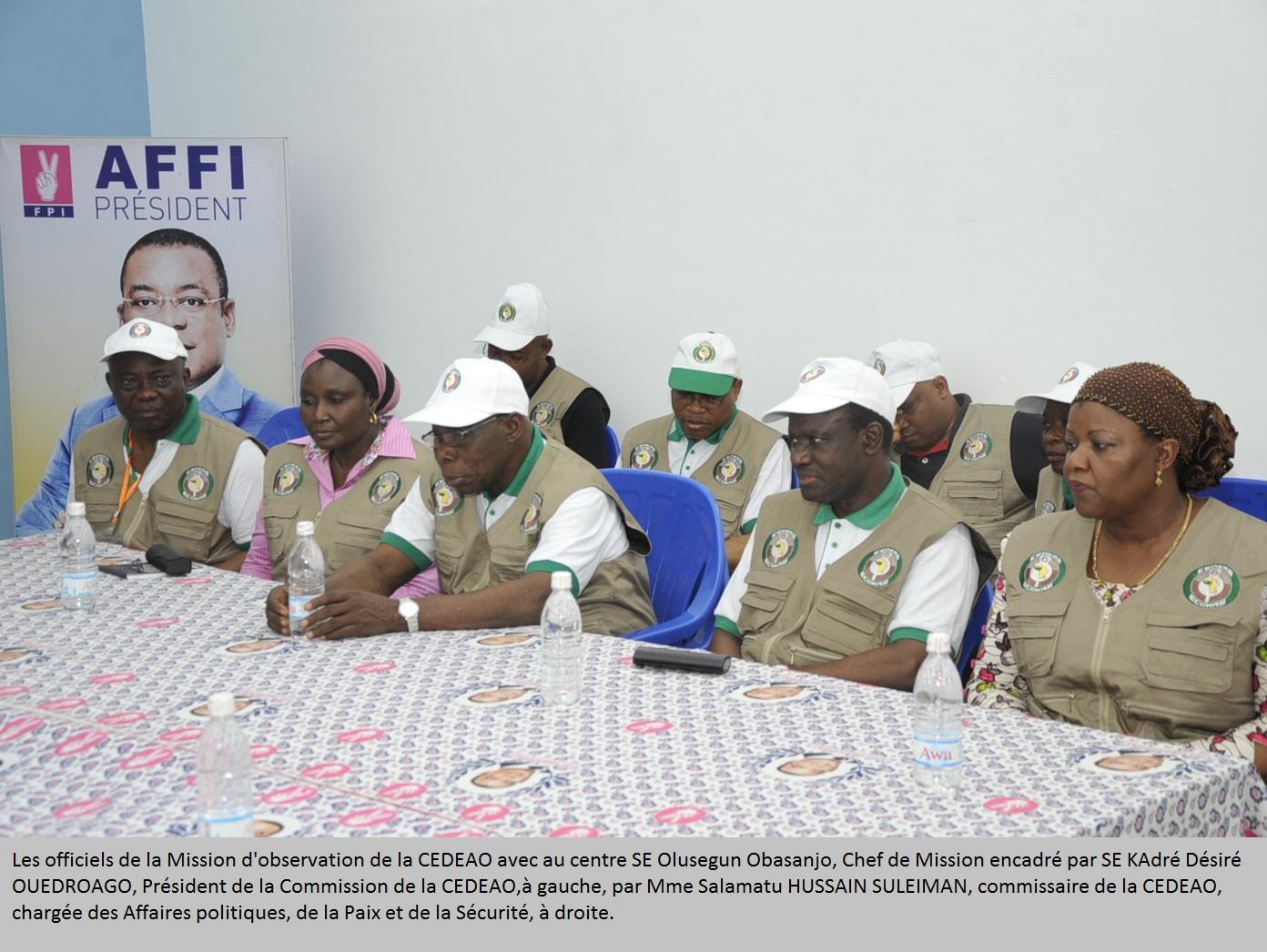 Présidentielle en Côte d'Ivoire : La mission d'observation électorale de la CEDEAO estime que le scrutin est libre et transparent