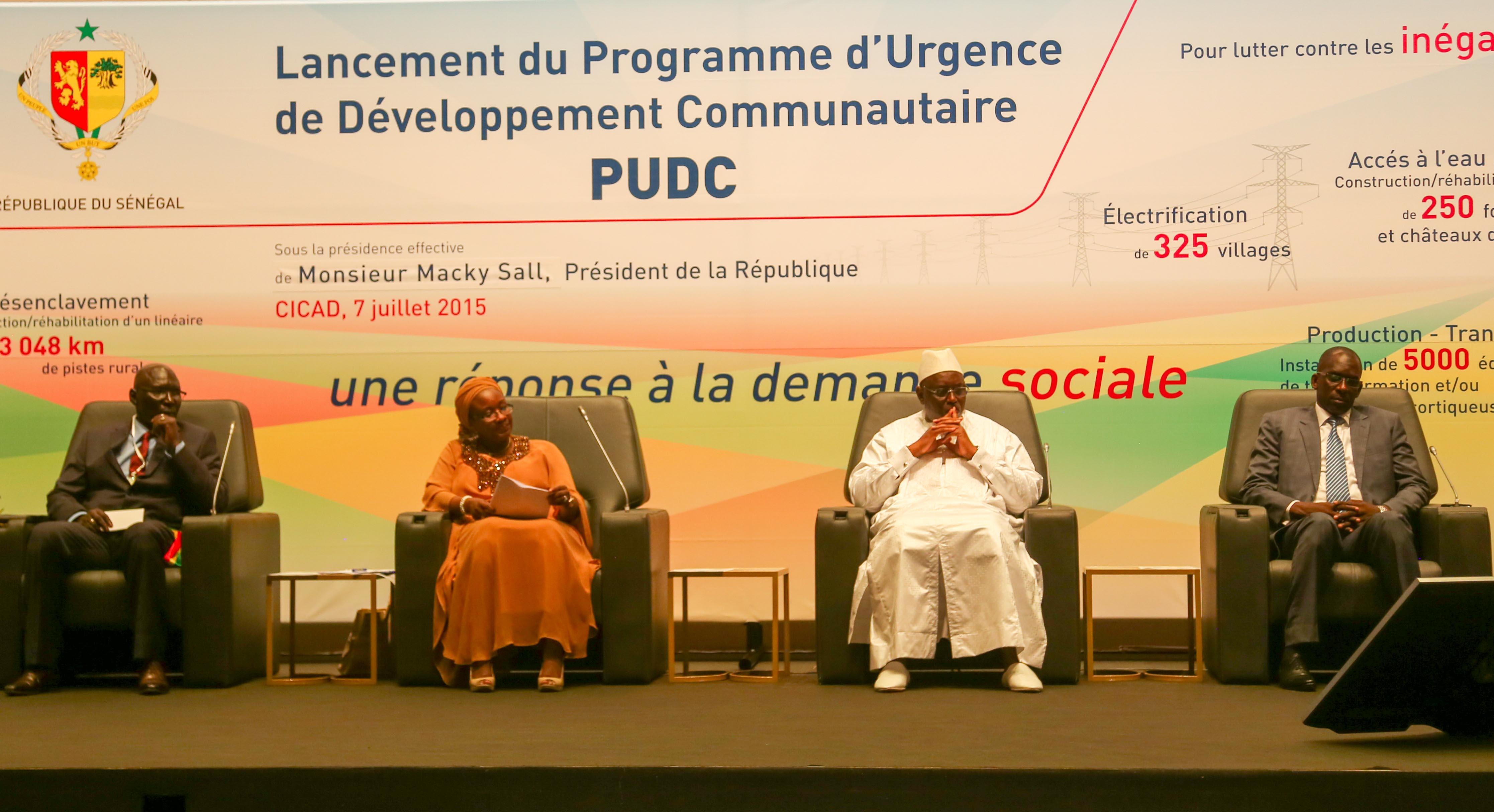 """Macky Sall : """"Le PUDC est un modèle réussi de développement"""""""