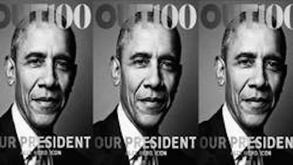 Obama à la Une d'un mensuel homosexuel