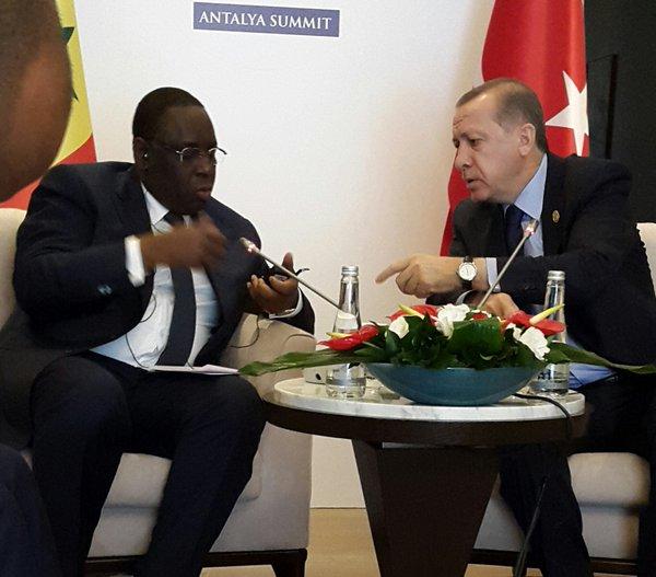 Entretien des présidents Macky Sall et Erdogan sur la coopération entre les deux pays