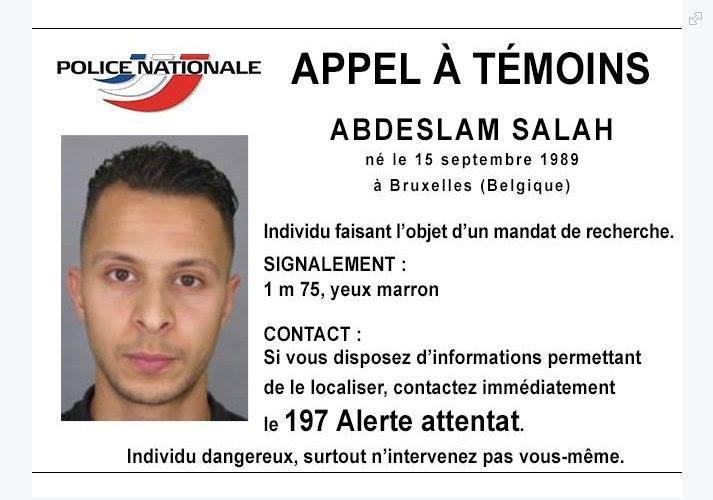 Attentats de Paris : La police diffuse un appel à témoin avec la photo d'un des suspects