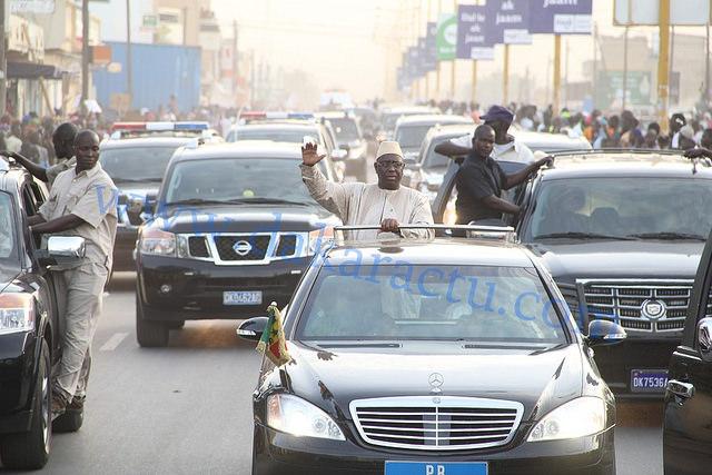 Touba : Le Chef de l'Etat est arrivé dans la ville sainte