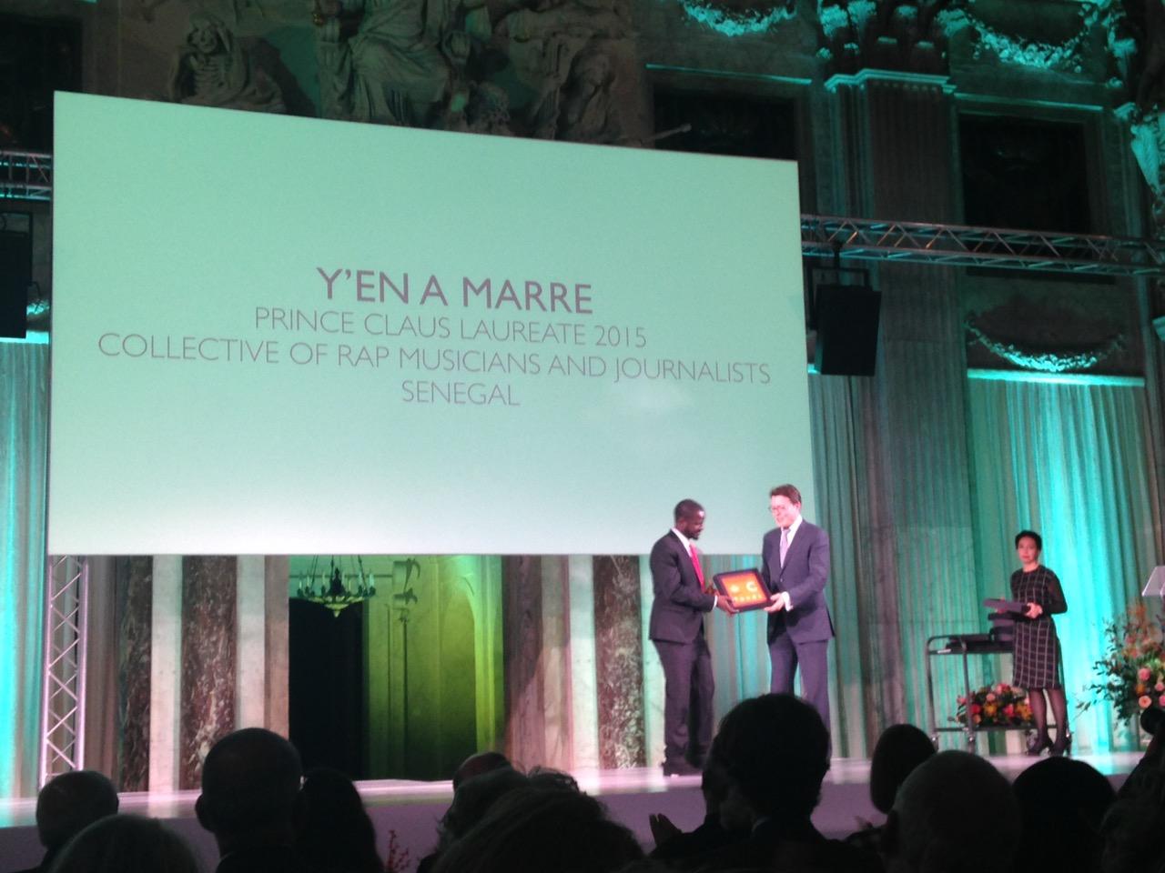Prix Prince Claus : « Y en a Marre » récompensé pour sa préservation de la démocratie et sa contribution citoyenne