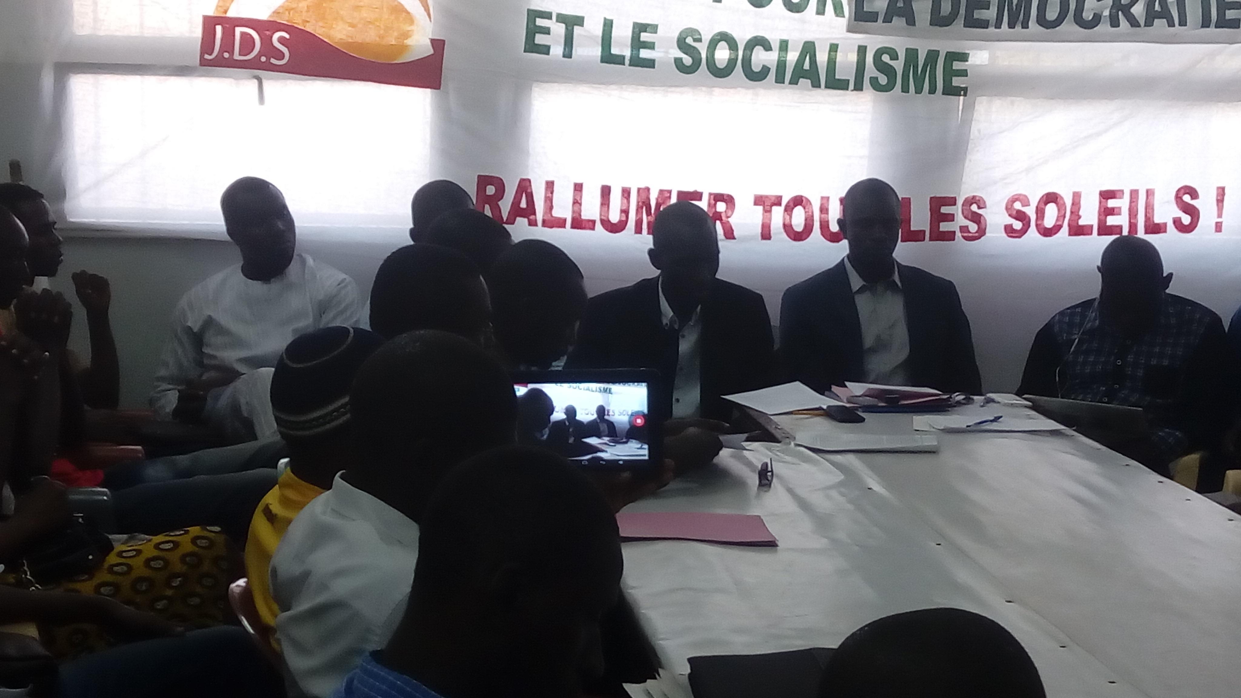 Les jeunes socialistes de la JDS soutiennent leur Coordinateur