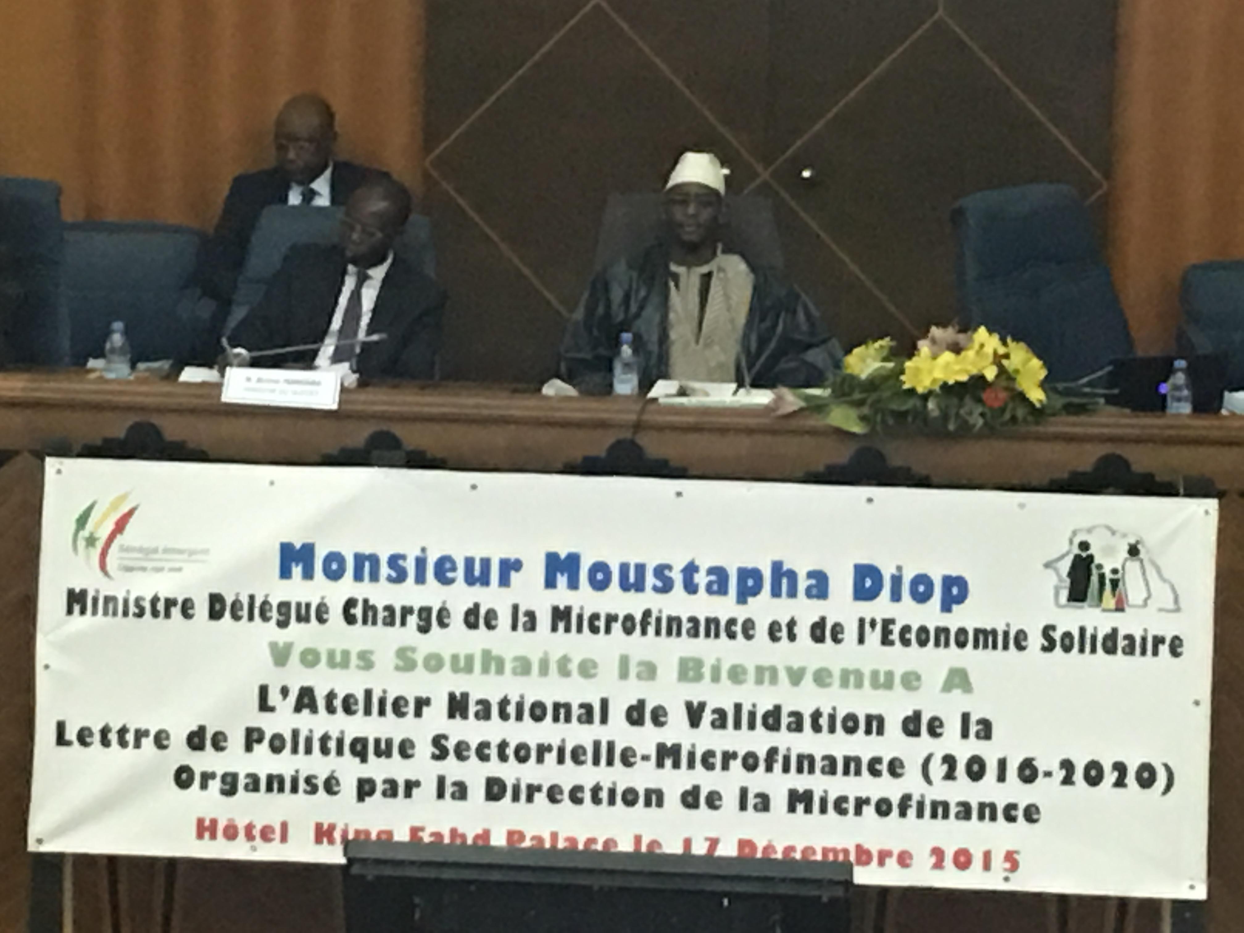 Validation de la Lettre de politique sectorielle de la micro-finance 2016-2020 : Le ministre Moustapha Diop œuvre pour la concrétisation de la vision du Président