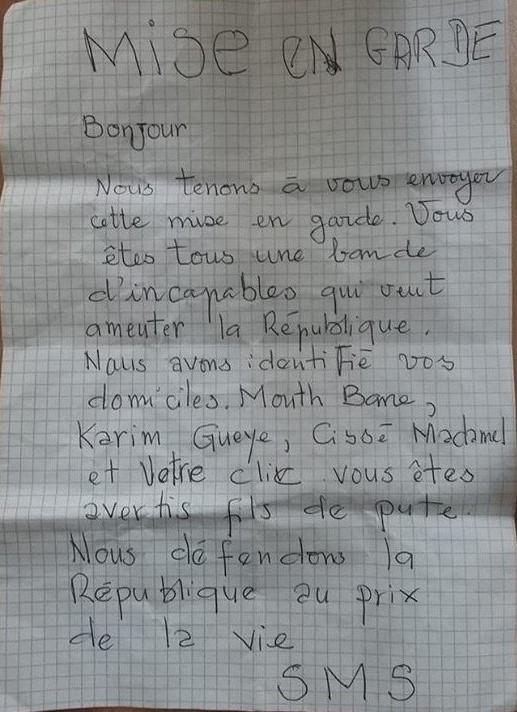 Menace de mort : La Coalition JUBANTI SÉNÉGAL reçoit une lettre de mise en garde