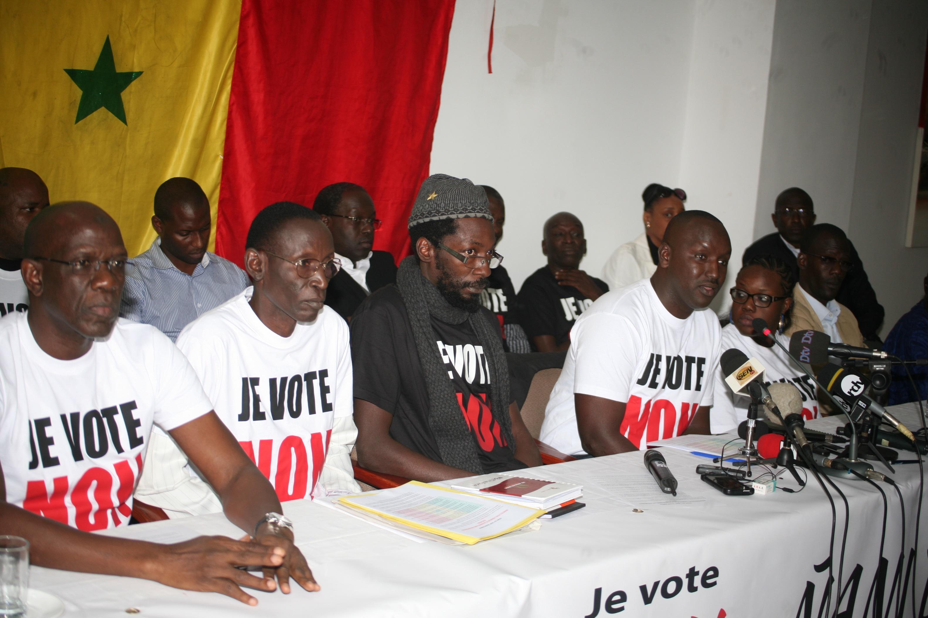 « Front du NON, ñani bañna » : Une douzaine d'organisations de la société civile rejoint le combat
