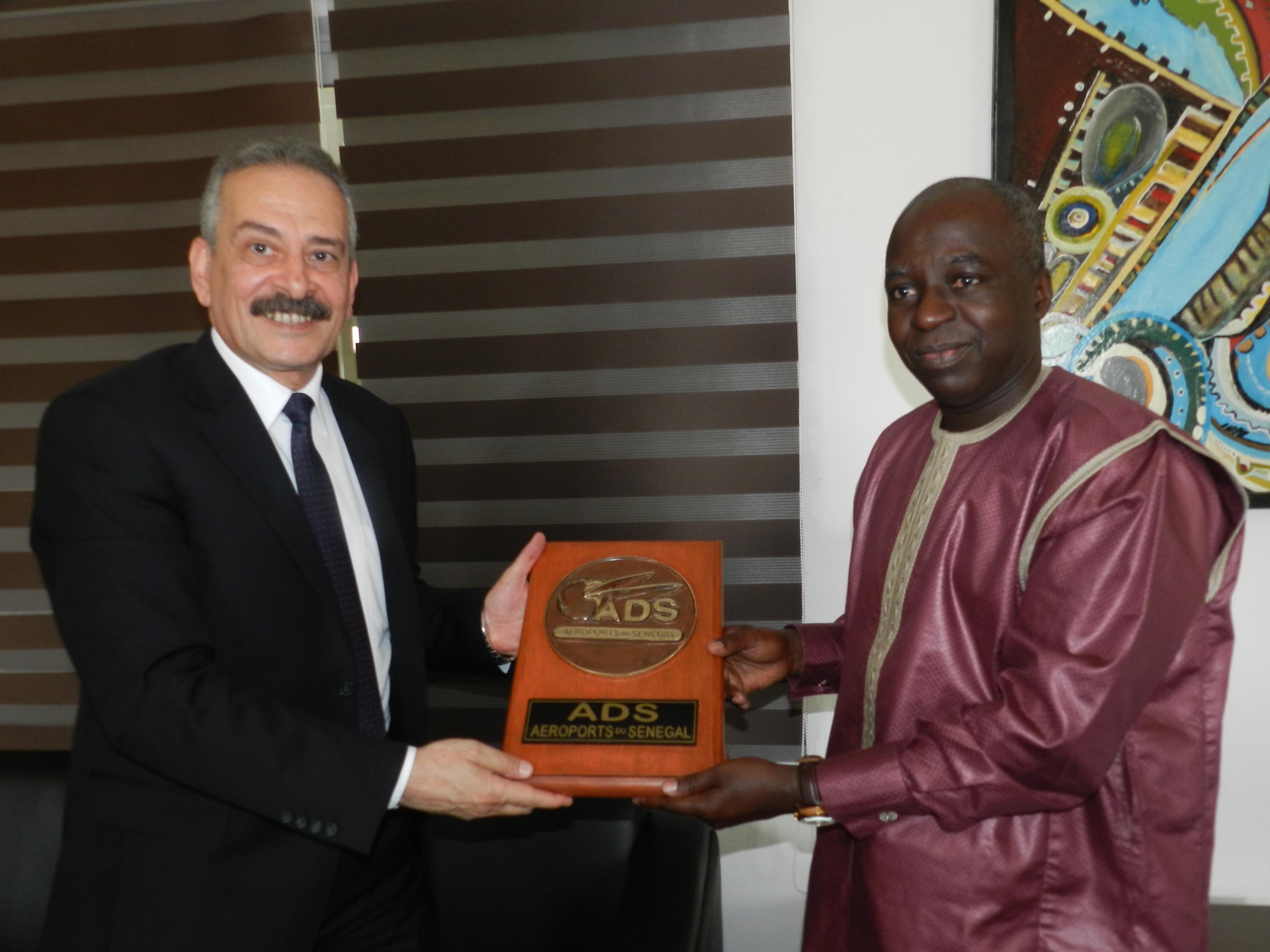 Visite du Président de la Commission Africaine de l'Aviation Civile : Désignation d'un point focal au niveau des ADS pour suivre toutes les préoccupations de la CAFAC